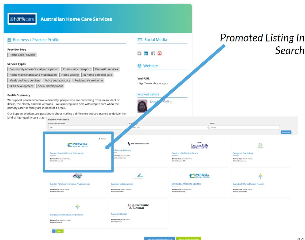 Business Profile Promotion