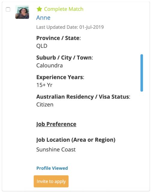 Premium Candidate Request
